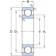 Гибридные однорядные радиальные шариковые подшипники - 6000/HC5C3