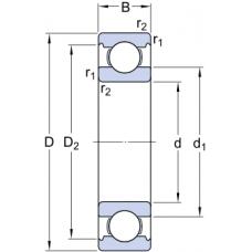Однорядные радиальные шариковые подшипники INSOCOAT - 6215/C3VL0241