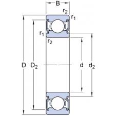 Гибридные однорядные радиальные шариковые подшипники - 6000-2RSLTN9/HC5C3WT