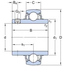 Высокотемпературные корпусные подшипники со стопорными винтами - YAR 204-012-2FW/VA228