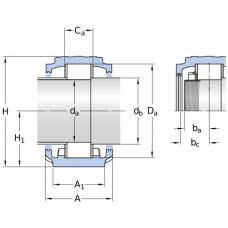 Стационарные корпуса SNLN30 для подшипников с цилиндрическим отверстием - SNLN 3024 + C 4024 V
