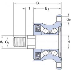 Подшипниковые узлы SKFAgriHub - BAA-0009